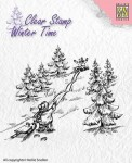 Stempel akrylowy Nellie's Choice Clear Stamp WINTER TIME WT003