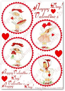 Papier ryżowy do decoupage Aquita AD0340 Happy Valentine's Day