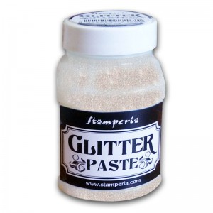 Pasta strukturalna brokatowa Stamperia GLITTER PASTE TRANSPARENT 100ml