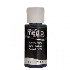 Fluid akrylowy DecoArt Fluid Acrylics CARBON BLACK 29,6ml