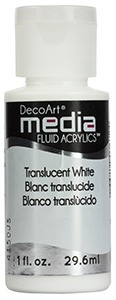 Fluid akrylowy DecoArt Fluid Acrylics TRANSLUCENT WHITE 29,6ml
