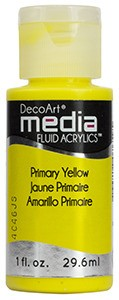 Fluid akrylowy DecoArt Fluid Acrylics PRIMARY YELLOW 29,6ml