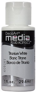 Fluid akrylowy DecoArt Fluid Acrylics TITANUM WHITE 29,6ml