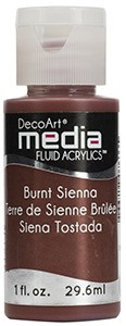 Fluid akrylowy DecoArt Fluid Acrylics BURNT SIENNA 29,6ml
