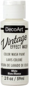 Farba postarzająca DecoArt Vintage Effect Wash WHITE 59ml