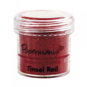 Puder do embossingu Papermania Embossing Powder TINSEL RED 30g