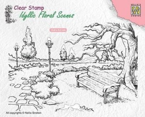 Stempel akrylowy Nellie's Choice Clear Stamp IDYLLIC FLORAL SCENES IFS016