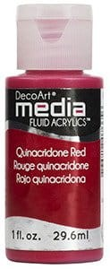 Fluid akrylowy DecoArt Fluid Acrylics QUINACRIDONE RED 29,6ml
