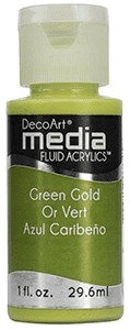 Fluid akrylowy DecoArt Fluid Acrylics GREEN GOLD 29,6m