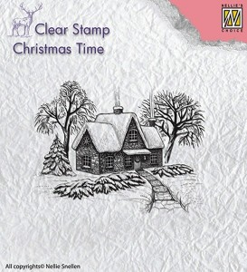 Stempel akrylowy Nellie's Choice Clear Stamp CHRISTMAS TIME CT019