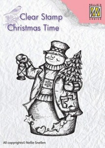 Stempel akrylowy Nellie's Choice Clear Stamp CHRISTMAS TIME CT024