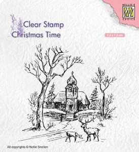 Stempel akrylowy Nellie's Choice Clear Stamp CHRISTMAS TIME CT027