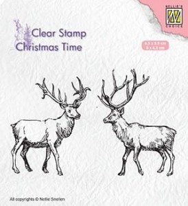 Stempel akrylowy Nellie's Choice Clear Stamp CHRISTMAS TIME CT028