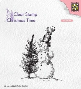 Stempel akrylowy Nellie's Choice Clear Stamp CHRISTMAS TIME CT029