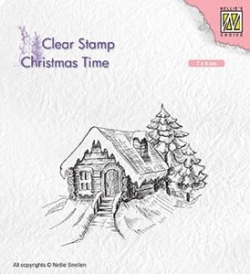 Stempel akrylowy Nellie's Choice Clear Stamp CHRISTMAS TIME CT030