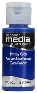 Fluid akrylowy DecoArt Fluid Acrylics PRIMARY CYJAN 29,6ml