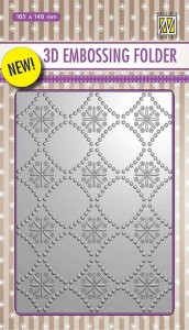 Folder do embossingu 3D Nellie's  Choice EF3D02 3D EMBOSSING FOLDER