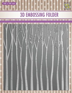 Folder do wytłaczania 3D Nellie's Choice EF3D13 3D EMBOSSING FOLDER Brzozowy zagajnik