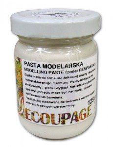 Pasta modelarska do reliefów i 3D Renesans 110ml