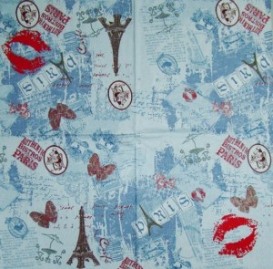 Serwetka do decoupage 2321 I love Paris
