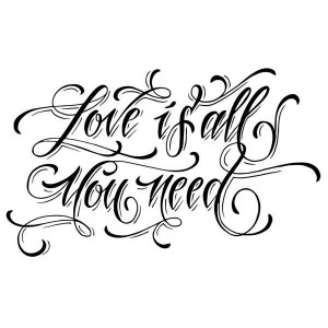 Stempel akrylowy Love is all you need WTK108