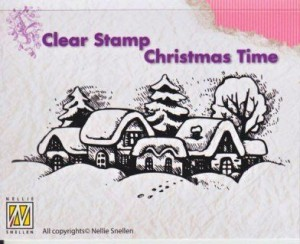 Stempel akrylowy Nellie's Choice Clear Stamp CHRISTMAS TIME  Snowy Village CT009
