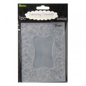 Folder do embossingu Darice 1215-49 EMBOSSING FOLDER Zawijaskowa rameczka