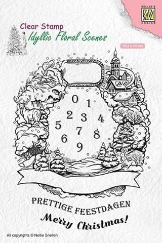 Stempel akrylowy Nellie's Choice Clear Stamp IDYLLIC FLORAL SCENES IFS020