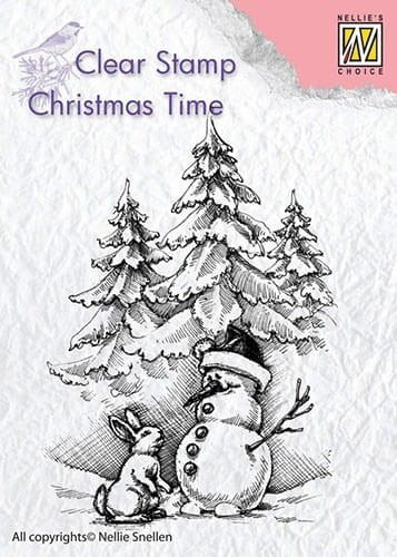 Stempel akrylowy Nellie's Choice Clear Stamp CHRISTMAS TIME CT026
